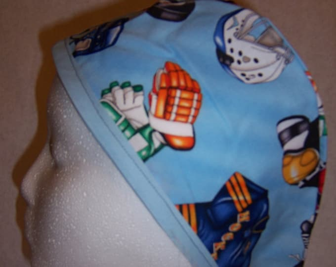 Hockey themed surgical cap
