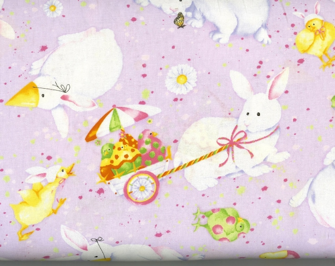 Easter Confusion 100% cotton fabric- sold by the yard  #249