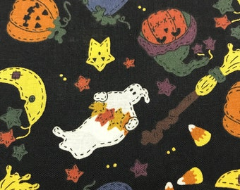 Halloween cotton fabric sold by ( multiple lengths)