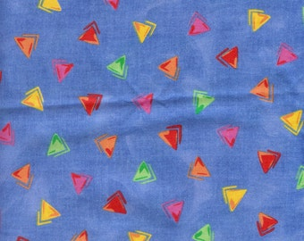 """Blue Geometrics 100% cotton fabric (45"""" wide), Sold by (multiple lengths)  #118"""