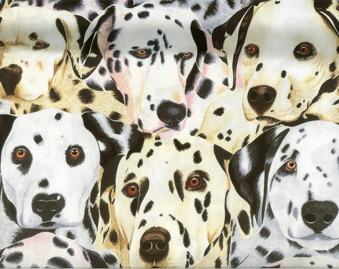 Dalmatian Puppies All Over 100% cotton fabric sold by ( multiple lengths)