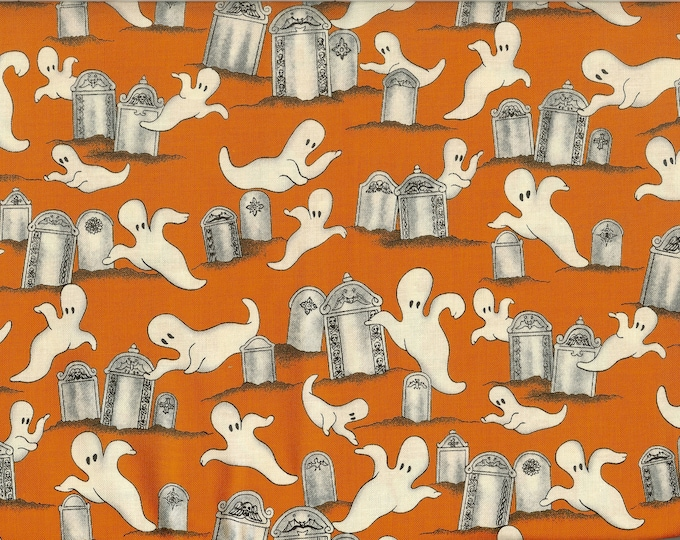 Ghosts in the Graveyard 100% cotton fabric sold by the yard #176