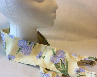 Purple Iris, fabric stethoscope cover