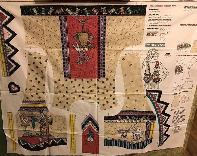 Sew Cozy sewing vest panel