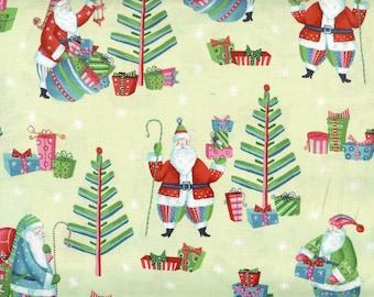 Secret Santa 100% cotton fabric, sold by the yard  #188