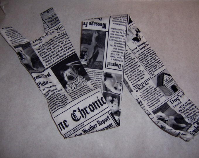 Dog newspaper print, fabric sethoscope cover
