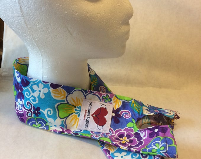 Bright Flowered, fabric stethoscope cover
