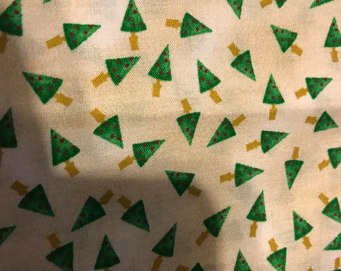 Tiny Christmas Tree fabric, sold by the yard