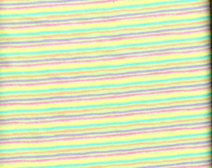 Bright stripe 100% cotton FLANNEL , sold by the yard  #121