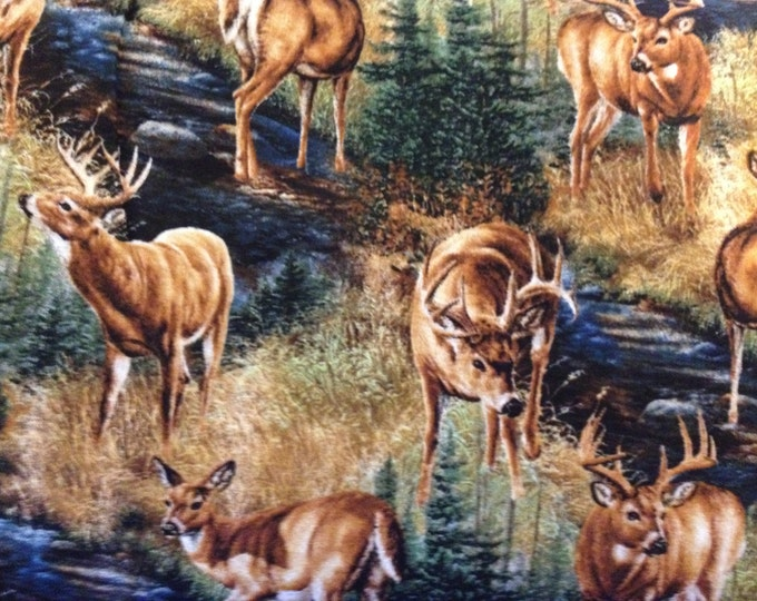 Stoney Brook deer fabric, sold by( multiple lengths) #464