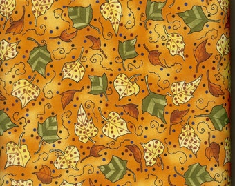 Leaves Aflutter 100% cotton fabric, sold by the yard  #247