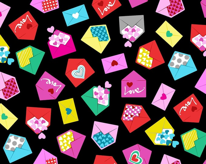 Love Letters  100% cotton fabric, sold by the yard  #516
