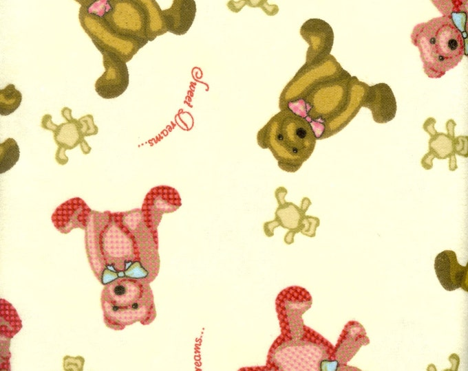 Teddy Bear cozy, cotton FLANNEL, sold by the yard