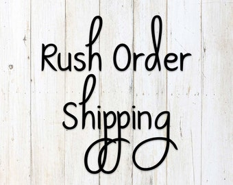 Designs by Melissa - Rush Order Shipping -First Proof Will Be Completed in 24 Hours - Rush Order Add On - Single Listing Rush Fee