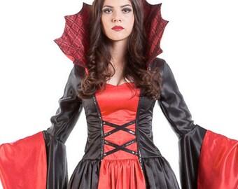 804a68557dae1 Vampire Costume Women's Vampiress Size | Etsy