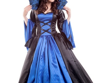 4661d0a3a7eda Vampire Costume Women's Vampiress Size 8 | Etsy