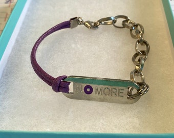 NO More bracelet,Sexual assault,Campus,Domestic violence,gift for abused women Stop domestic violence bracelet NO More movement