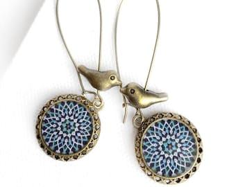 SEPIDEH earrings - Persian tile design Earrings - Persian jewelry- Oriental - Mandala