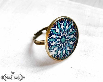 SOTOODEH adjustable ring  - Persian jewelry- Oriental - Mandala