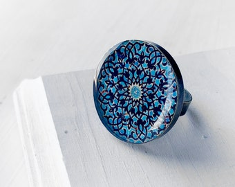 NIRVANA adjustable ring  - Persian jewelry-  Mandala
