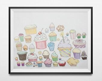 I Dream in Cupcake | Illustration | 11x14