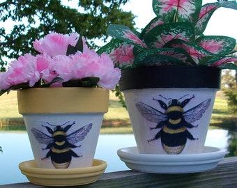 69163851aba24b Bumble Bee Flower Pot