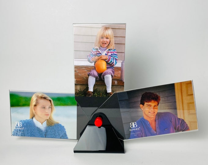 Vintage 90s Plastic Photo Frames/Rotating Display
