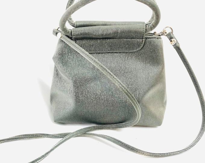 Vintage 2000's Silver Small Top Handle/ Shoulder Bag