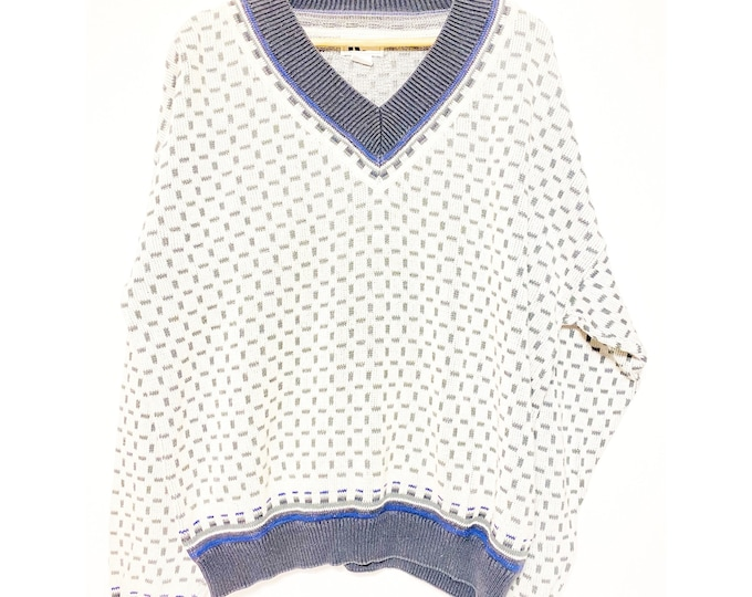 Vintage Reunion Oversize Chunky White Knit Sweater