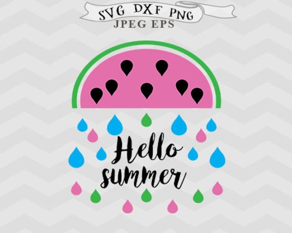 Summer svg raindrops svg Watermelon svg files for silhouette Summer svg DXF  Cricut downloads Cricut files silhouette designs Farmhouse svg