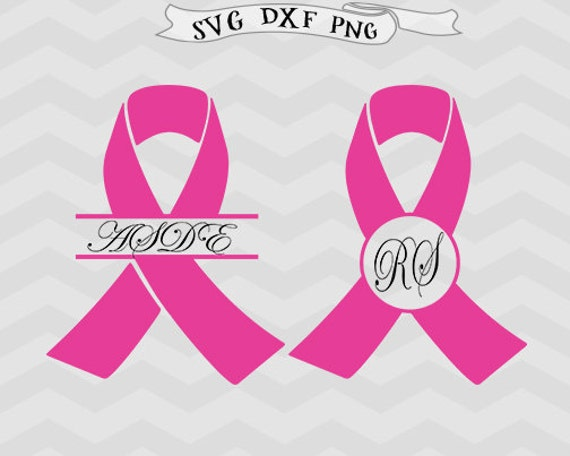 T Cancer Ribbon Template | Awareness Ribbon Svg File Cutting Template Monogram Breast Etsy