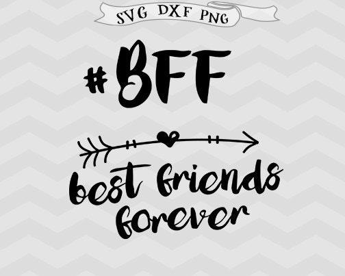 best friends forever svg bff friends svg shirt design arrow etsy