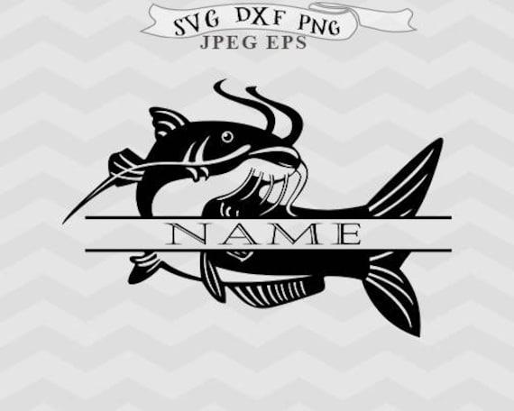 Download Cat Fish Svg Fish Monogram Svg Split Monogram Svg Fishing Svg Etsy