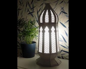 "High quality moroccan style table lamp ""Samara"" - wooden, moroccan oriental decor, romantic lighting, arabic"