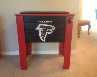Atlanta Falcons wood cooler stand