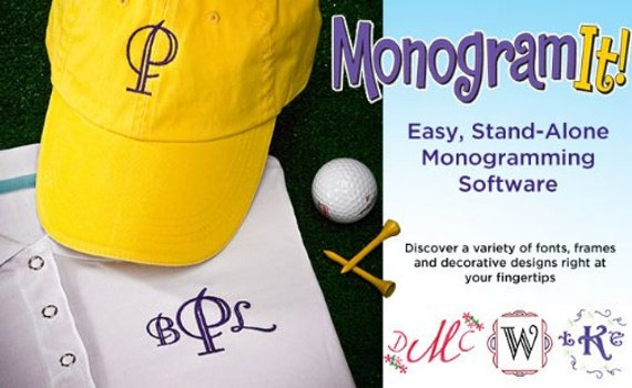 Amazing Designs Monogram It Stand Alone Monogramming Software Etsy