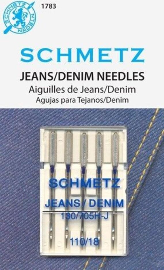 SCHMETZ Sewing Machine Needles-Jeans//Denim Size 110//18 5Pack