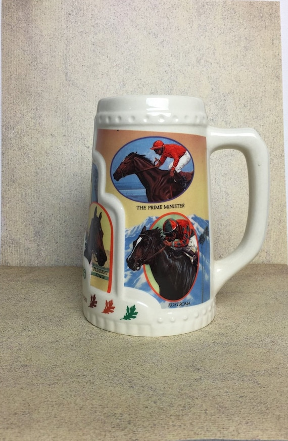 1992 Oak Tree Beer Stein Mug Santa Anita Park Horse Racing