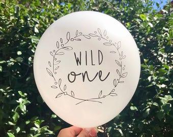Wild One Birthday Balloons First Birthday Balloons Wild One Balloons First Birthday Decors Wild One Birthday Party Decors Wild One Party