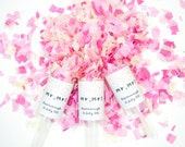 Wedding Confetti Push Pop Set of 50/ Wedding Favor/ Mr & Mrs Confetti Poppers /Costume Wedding Favor/ Tissue Paper Confetti/ Confetti Pop