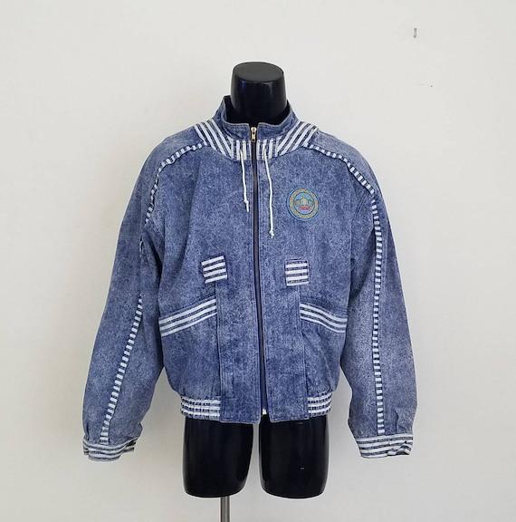 Rare Vintage 1980's Troop Denim Jacket Sz. XL