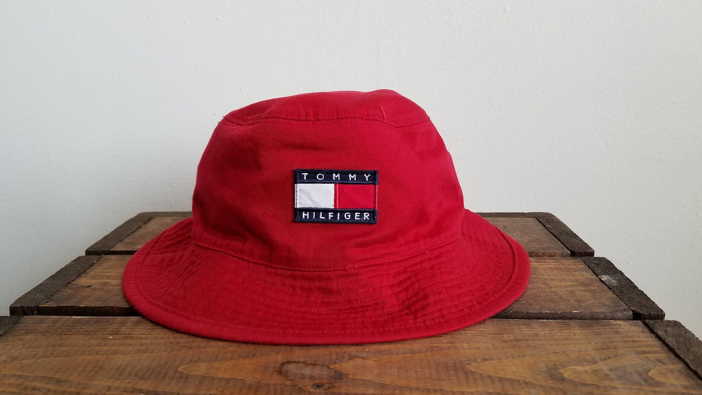 7647598ce4 Vintage 90 d Reversible Tommy Hilfiger Bucket Hat