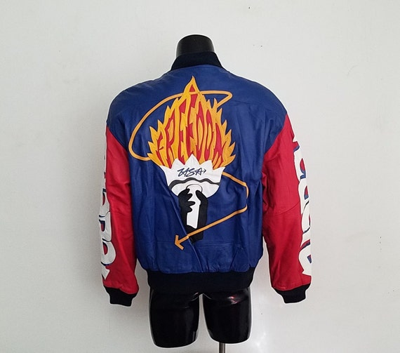 "Vintage Michael Hoban ""Freedom"" Torch Leather Jac… - image 1"