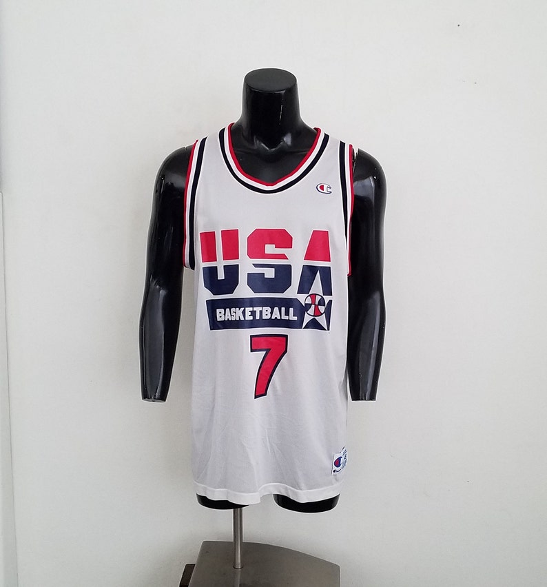 pretty nice 088b2 30c8e Vintage Larry Bird USA Dream Team Champion Basketball Jersey Sz. 48 (XL)