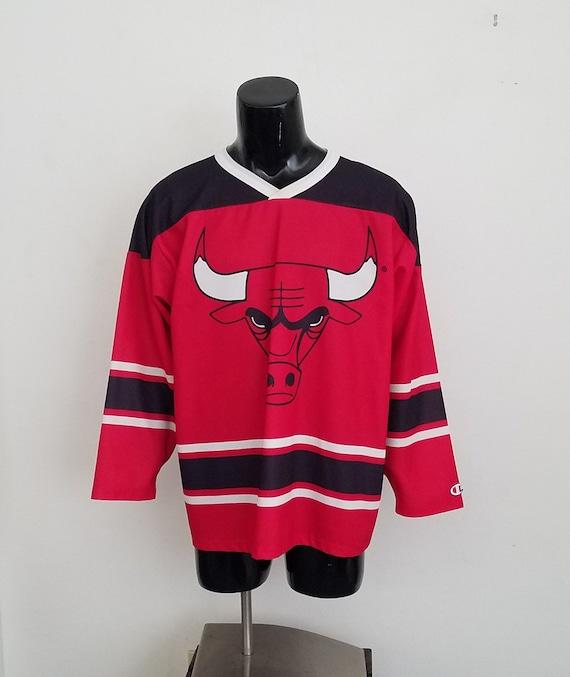 Rare Chicago Bulls Champion Hockey Jersey Sz. L