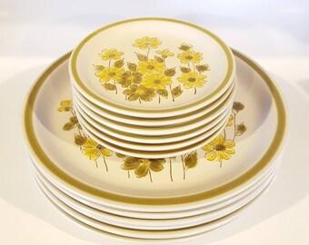 Spring Bouquet Stoneware Dinnerware Set