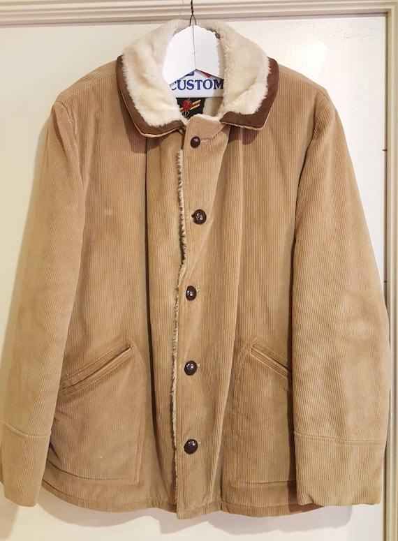Vintage Montgomery Ward Lined Marlboro Man Coat