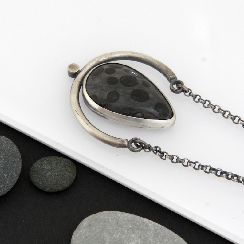 Yankee Necklace Oolite and Sterling Silver