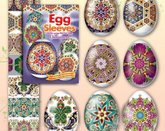 Ornament #13 Easter Egg Sleeves  Pysanka Shrink Wraps Pisanky