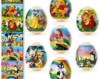 Animated Designs  only Easter Egg Sleeves Shrink Wraps Easter Decoration Pysanka